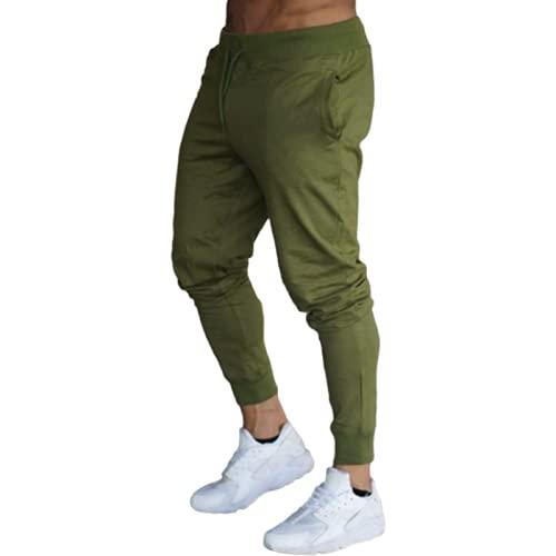 Huntrly Pantalones Deportivos para Hombres, Pantalones para Correr, Pantalones de Entrenamiento de fútbol para Fitness, Pantalones Deportivos Casuales Delgados Europeos y Americanos M