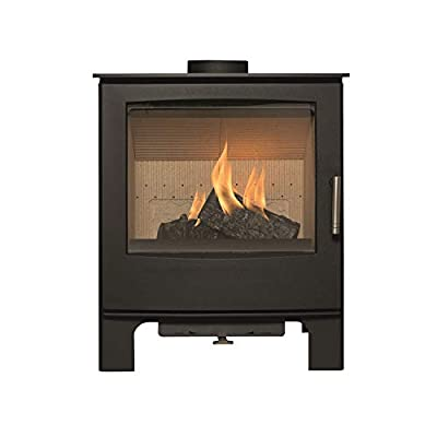 Mendip Woodland Multifuel Stove Large Glass Viewing Window Fire 7.5kW Defra Eco