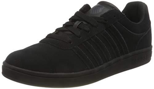 K-Swiss Herren Court CHESWICK SPSDE Sneaker, BLK/BLK/Charcoal, 40 EU