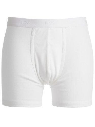 jbs Herren Basic Boxer Tights Dess. 300, Weiß, M