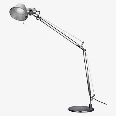 Artemide Tolomeo Mini Tavolo LED, Aluminium poliert & eloxiert, 3.000 K