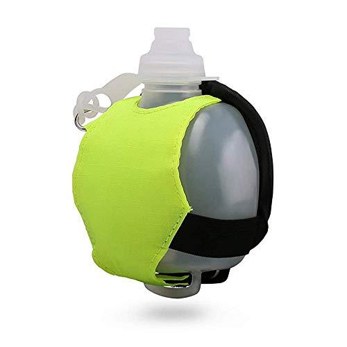 Wondsea Botella de agua ajustable para correr en la muñeca, botella de agua para correr, ciclismo, senderismo, camping, viajes, botella de manos libres para corredores y atletas (verde)