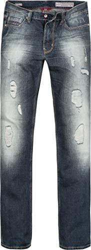 Preisvergleich Produktbild OTTO KERN Herren Jeans Wolle Denim-Hose Blau 33 / 34