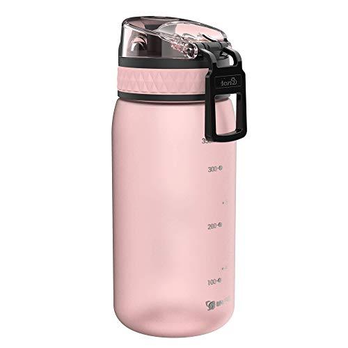 Ion8 auslaufsichere Kinder Wasserflasche/Trinkflasche, BPA-frei, 350ml/12oz, Rose - 5