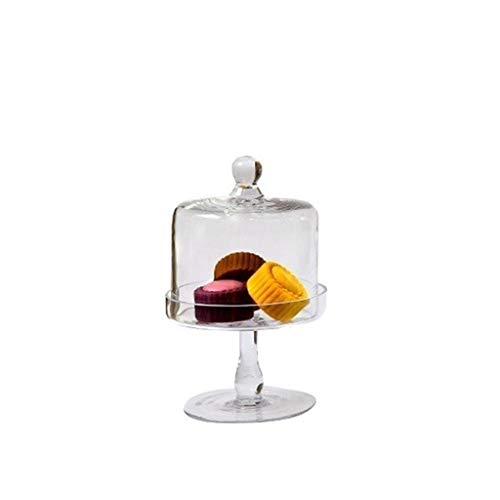 Biefstuk plaat Premium Dessert Table, brood Falafel Tray Pie Donuts met Kaasstolp Glass Candy Jar Set Chip & Dip Server 15/20 / 24cm Taart bord (Size : 15 * 15 * 23CM)
