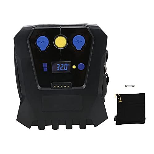 Inflador de neumáticos, Inflador de neumáticos portátil Compresor de aire digital Presión de la bomba Preestablecida Inflado rápido Universal para coche Motocicleta