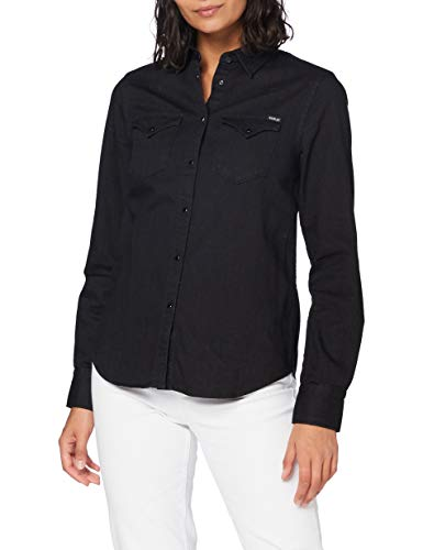 Replay Damen W2001 .000.154 010 Bluse, 098 Black, XL
