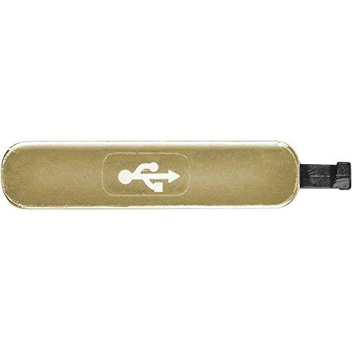 AGI Kompatibel USB Cover Gold für Samsung G900F Galaxy S5 kompatiblen