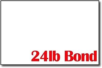 Bright White 24lb Bond 5 1/2
