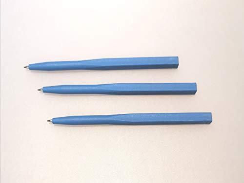 Kugelschreiber einfach, detektierbar, feststehende Mine, ohne Clip (blau)