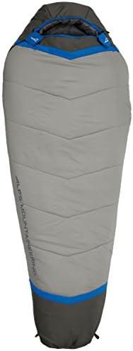ALPS Mountaineering mens 20 Degree Mummy Sleeping Bag Regular Blue Grey product image