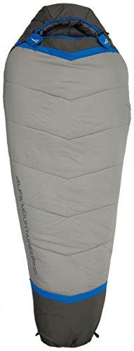 ALPS Mountaineering mens +20 Degree Mummy Sleeping Bag, Regular, Blue/Grey