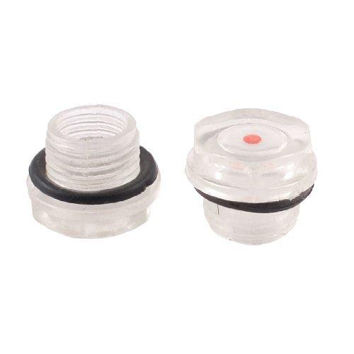 DealMux 2 piezas de 16 mm con rosca macho Ronda del nivel de aceite Mirilla de plástico para compresor de aire