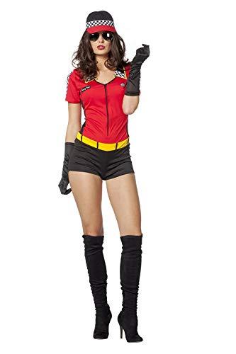 Boxenluder Kostüm Damenkostüme Damen Karneval Fasching Catsuit Rot Schwarz