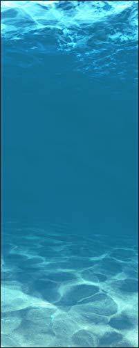 wandmotiv24 Türtapete Hellblau unter Wasser 80 x 200cm (B x H) - Dekorfolie selbstklebend Sticker für Türen, Tür-Bilder, Aufkleber, Deko Wohnung modern M1053