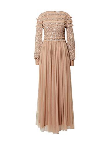 Maya Deluxe Damen Abendkleid beige 8 (36)