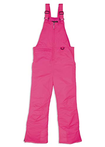 Arctic Quest Unisex Boys and Girls Unisex Ski & Snow Bib Pants Overalls, Day Glow Pink, 7/8
