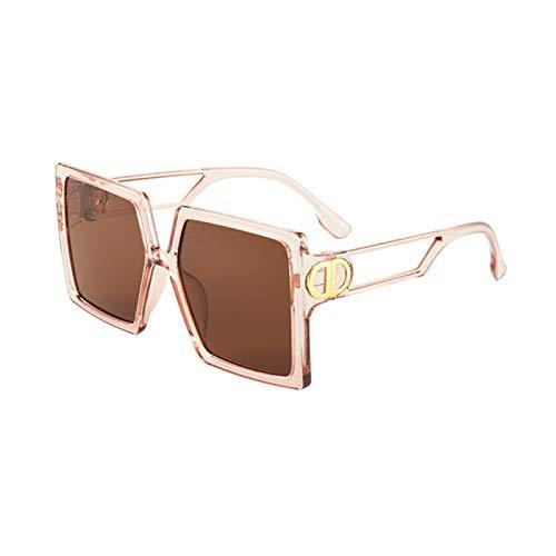 UKKD Gafas De Sol Mujeres La Caja Grande Ahueca hacia Fuera Las Gafas De Sol De La Personalidad De La Calle Snap Snap Sunglasses Fashion Lady Sun Gafas-2