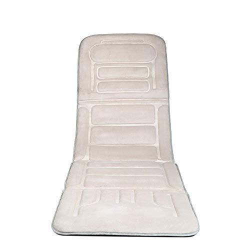 ZFFSC Massage Mat – 8 Métodos de Masaje, 3 ajustes, base del cojín Vibración Pad con 10 motores vibratorios – Relieves Stress o tensión de hombro Dolor de espalda Shoulder And Neck Massager