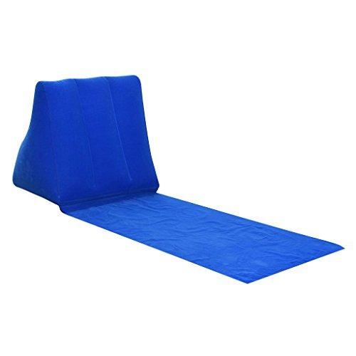 Injoyo Inflable Triangular Beach Camping Lounger Volver Almohada Cojín Silla Cama - Azul