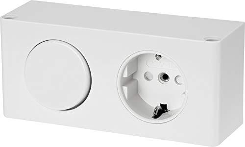 Enchufe con interruptor, 230 V, 16 A, 3500 W, color blanco