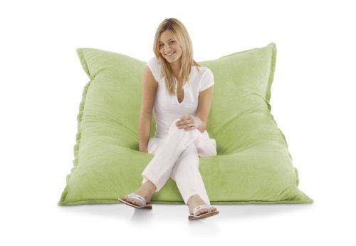 Unbekannt Smoothy Sitzsack Classic Samt Grün