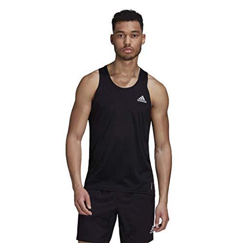 adidas Own The Run Singlet Camisa, Negro, Medium para Hombre
