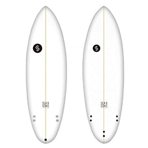 Sea & Sons Big Party 6'4' Tabla De Surf, Unisex Adulto, Blanco