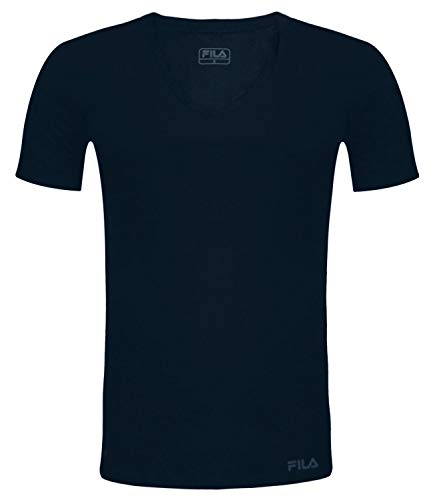 FILA Herren T-Shirt Mit V-Ausschnitt FU5001 Man V-Neck Undershirt 321 M, 321 Navy, M, FU5001
