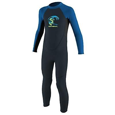 O'Neill Toddler Reactor-2 2mm Back Zip Full Wetsuit, Slate/Black/Ocean, 6