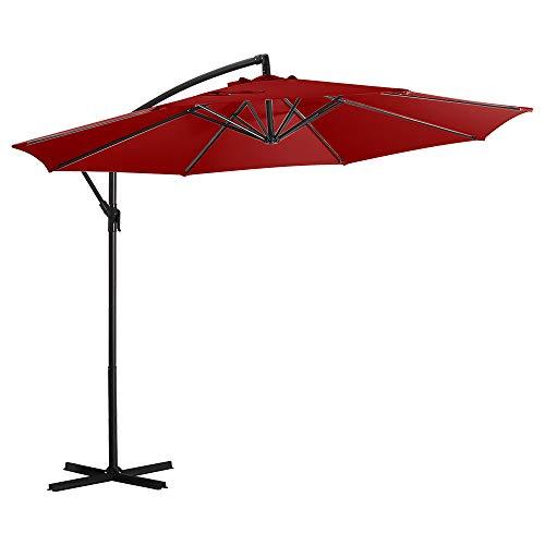 Deponel Offset Umbrella 10ft Patio Cantilever Umbrella Hanging Outdoor Umbrellas with Crank & Cross...