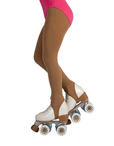 CALZITALY Collant Skating Staffa Bambina | Calze Con Ghetta Pattinaggio | 70 Den | Naturale | (10 Anni, Caramello)