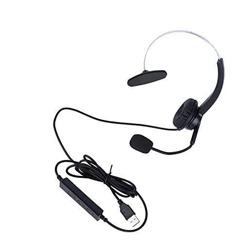 FOLOSAFENAR Auriculares telefónicos, Auriculares telefónicos Ajustables de un oído para charlar