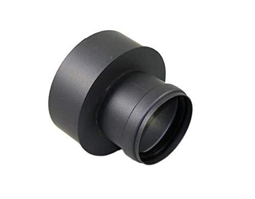 AdoroSol Vertriebs GmbH Erweiterung von 80 weit auf 130 schmal Pellet in Schwarz oder Grau Ø 80 mm Ofenrohr für Pelletöfen (Schwarz)