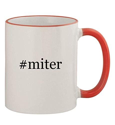 #miter - 11oz Colored Handle and Rim Coffee Mug, Red