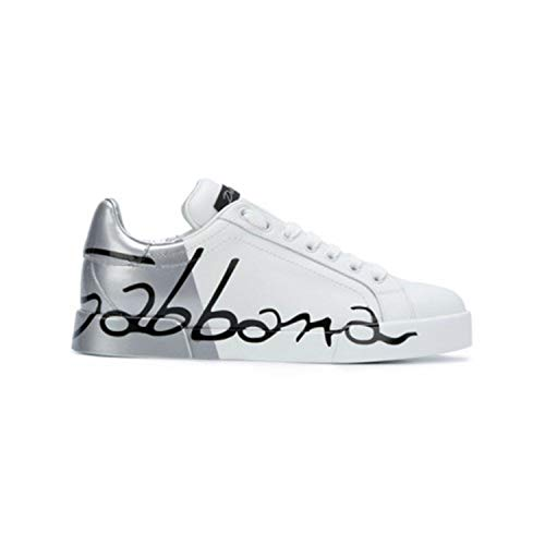 DOLCE&GABBANA CK0124AI053 Sneakers Basse Donna Argento 37.5