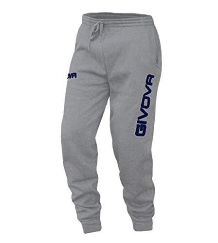 Giosal Pantalone Tuta Uomo Givova New Panta Moon Free Time Vari Colori Sport Relax Grigio/Blu-XL