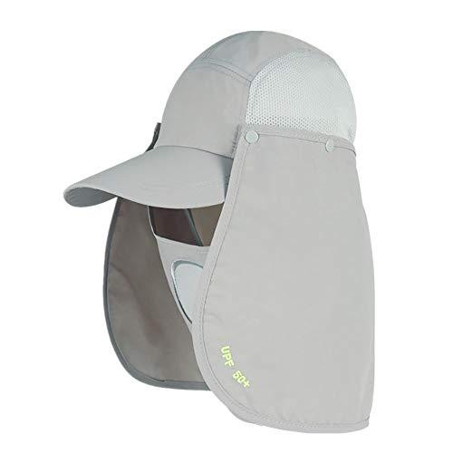 Anney Fischerhut Unisex Faltbar Atmungsaktiv, Wanderhut Erwachsene Frauen-Mann-Sonnenschutz-Hut im Freien UV-Schutz-Fischen, das Kappen mit dem Gesicht Hals flach wandert