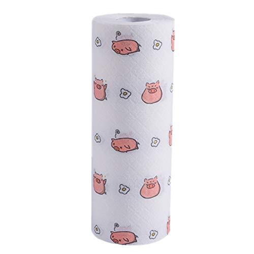 Hpera Klopapier Toilettenpapier Öko-Küchenrolle Recycelte Küchenrolle Umweltfreundliche Küchenrolle Küchentuchrollen Tissue Rolls für die Küche Pig