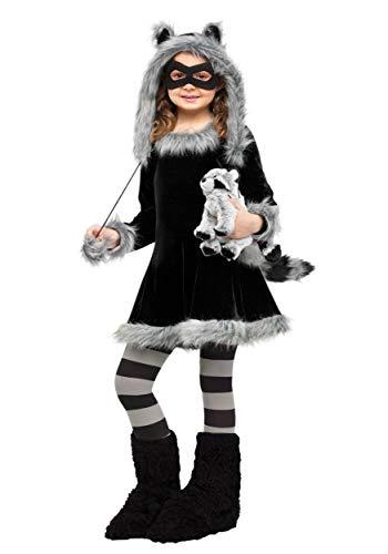 Sweet Raccoon Girls Costume Medium (8-10)