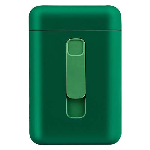 Bias&Belief Caja de Cigarrillo con Encendedor,Pitillera Cigarrillos,Mechero USB,Interruptor de Hebilla Magnética,Gran Capacidad,para 20 Cigarrillos Regulares,Verde