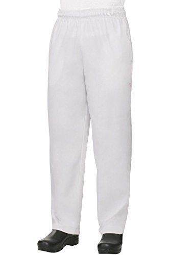 Best Textile Baggy White Chef Pants Size Large