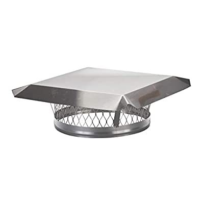 HY-C LC13 Round Stainless Steel Clamp on Single Flue Liner Chimney Cap, 13""