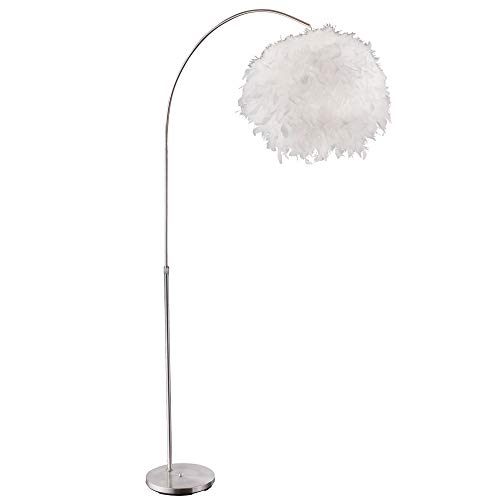 Steh Lampe Wohn Zimmer Beistell Beleuchtung Feder Kugel Bogen Stand Leuchte Globo 15057S