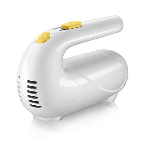 CHQQI Egg Beater Electric Doppelstockkonfiguration Vollautomatisch,Milchaufschäumer Caso 125W Elektrischer Handheld,Quirler Elektrisch Backen Klein-Weiß