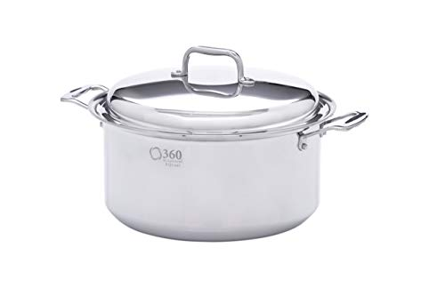 360 Stainless Steel Stock Pot with Lid,...