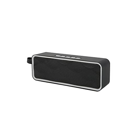 01 Outdoor BT-Lautsprecher, verschleißfeste praktische Lautsprecher Audio BT Einfach zu bedienen zum Radfahren zum Feiern zum Wandern zum Abhängen zum Camping(grau)