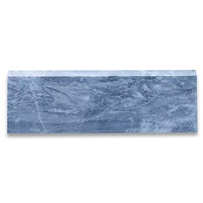 "Stone Center Online Bardiglio Gray Italian Dark Grey Marble Baseboard Trim Molding 4""x12"" Honed Kitchen Backsplash Bathroom Floor Tile"