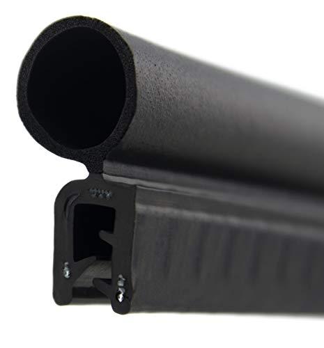 DO29 Dichtungsprofil von SMI-Kantenschutzprofi mit Dichtung oben - Klemmbereich 1-3 mm - Klemmprofil und Dichtung aus EPDM Moosgummi - einfache Montage, selbstklemmend ohne Kleber (5 m)