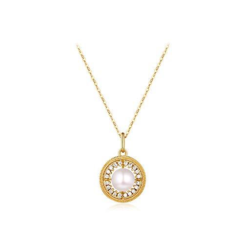 GYXYZB Light Jewelry Niche Design Vintage Ketting Vrouwelijke sleutelbeen Ketting Paleis Natuurlijke Zoetwaterparels Sterling Zilver